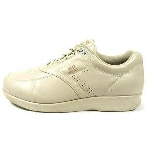 SAS Time Out Beige Leather Comfort Walking Shoes